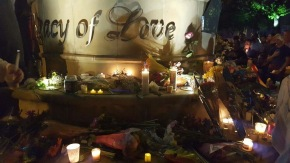 Sunday's Vigil. (Photo by Andrew Robinson)